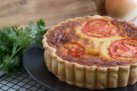 Ham & Tomato Quiche