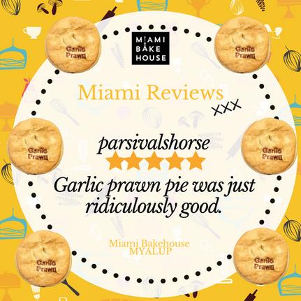 Garlic Prawn Pie Miami Bakehouse
