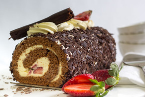 Chocolate and Strawberry Roll