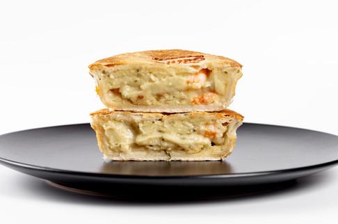 Garlic Prawn Pie open stack on plate.jpg