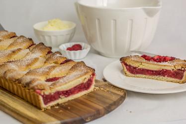 Sweet cake apple and raspberry pie Miami