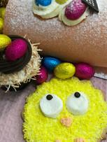 Easter Shortbread Cookies Chicks