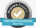 100% Weiterempfehlung_Proven Expert_Webdesign Agentur Thomsen Business Marketing