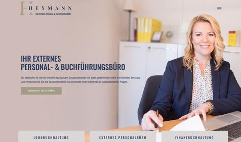 Logo Design & Webdesign Heymann