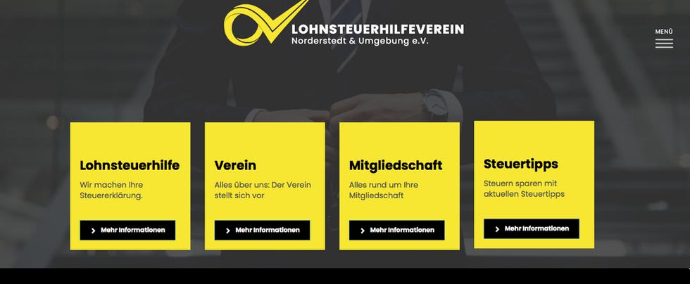 Homepage Erstellung & Logo Design _ LSHN Steuerhilfeverein