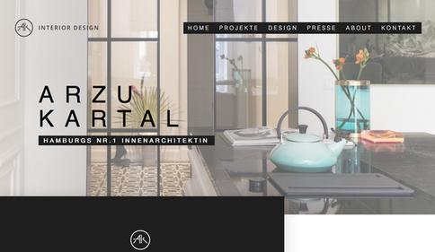 Webdesign für AK Interior Design