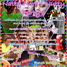 Childrens Entertainer Natty Nora kids entertainment, face painting, mascots