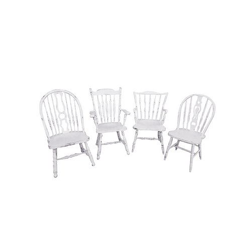 Custom Painted Dining Chairs
