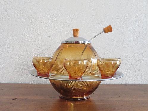 Antique Art Deco Punch Bowl