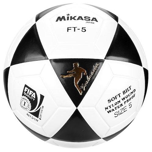 Bola de Futevôlei Mikasa FT5 Branca e Preta