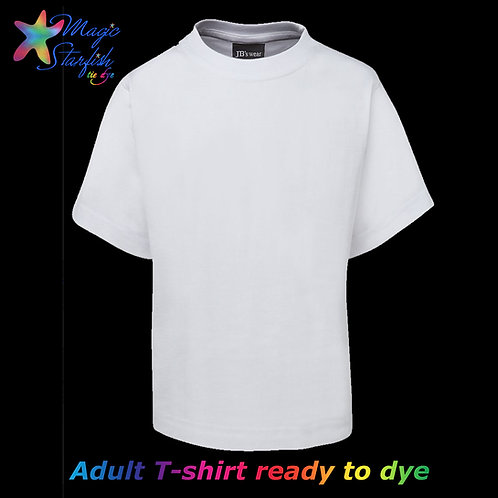 Adult T-shirt White (ready to Tie Dye)