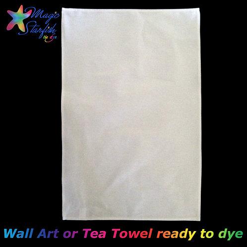 White Tea Towel (ready for Tie Dye)