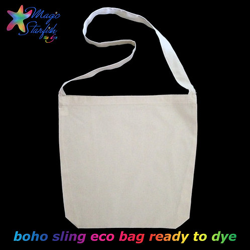 Calico Sling & Shopping Bag (ready to Tie Dye)