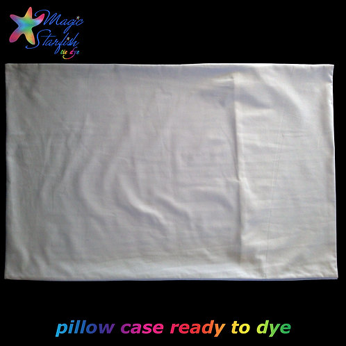 White Pillow Case (ready for Tie Dye)