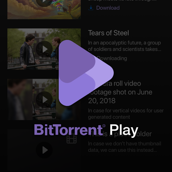 BitTorrent Play