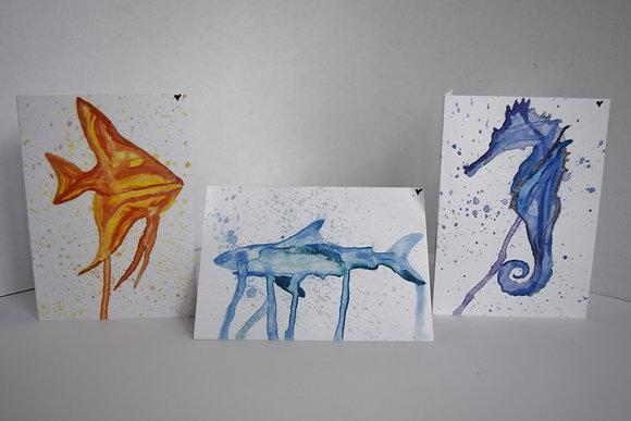 Great Barrier Reef animals (3 designs)