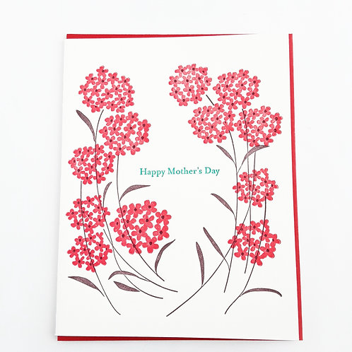 Happy Mother's Day red flowers