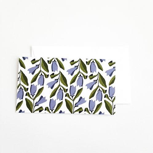 Mini Note Cards, Purple Trumpet