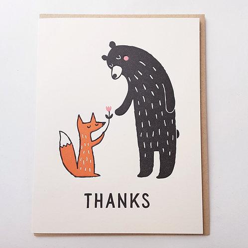 Thanks bear & fox