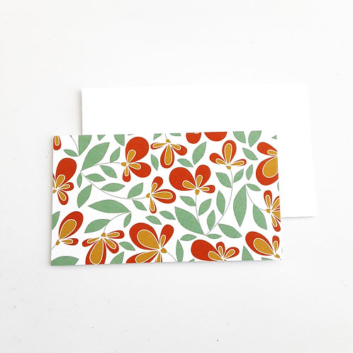 Mini Note Cards, Orange Loopy