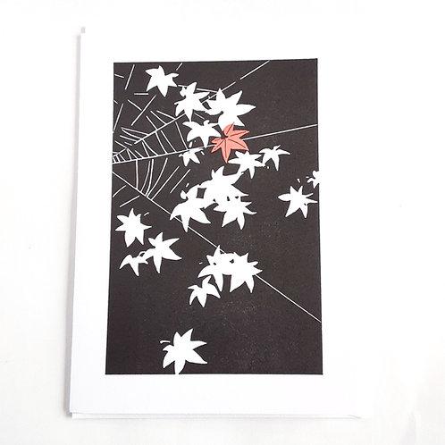 Leaves & Spiderweb