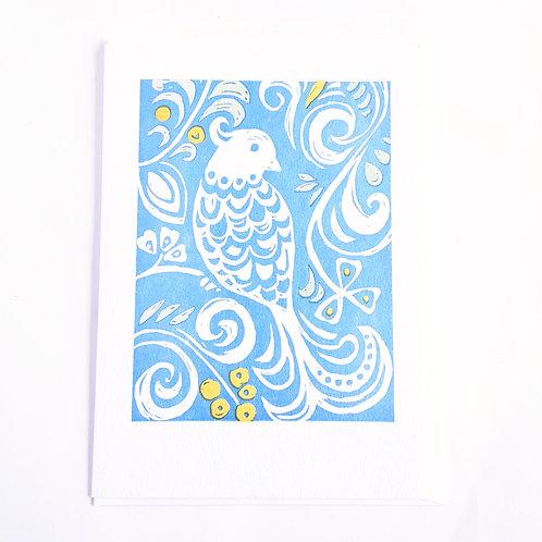 White Bird on Blue