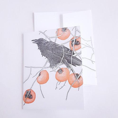 Persimmons & Blackbird