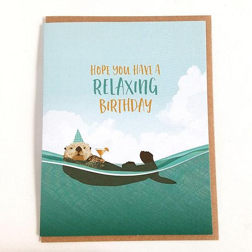 Relaxing Otter Birthday