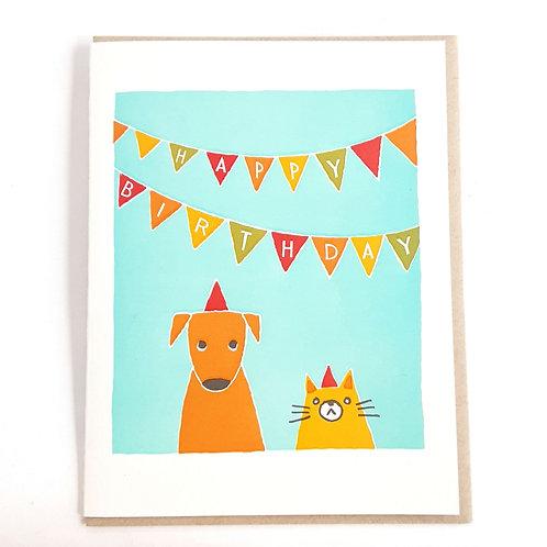 Dog & Cat Birthday Bunting