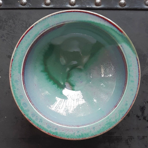 """Green/Red 4.5"""" Bowl"""