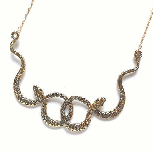 Linked Snakes Necklace