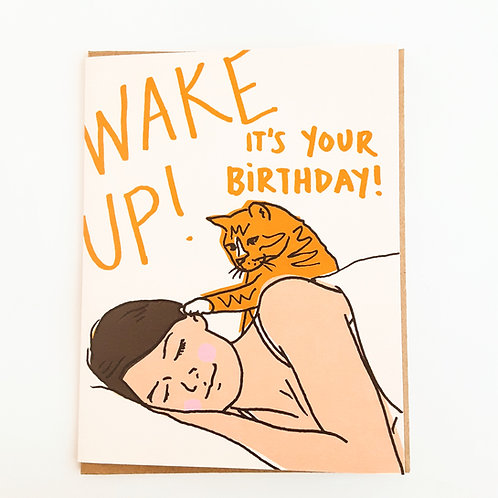 Wake Up! It's Your Birthday cat