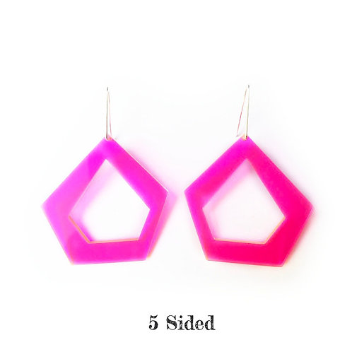 Acrylic & Sterling Earrings