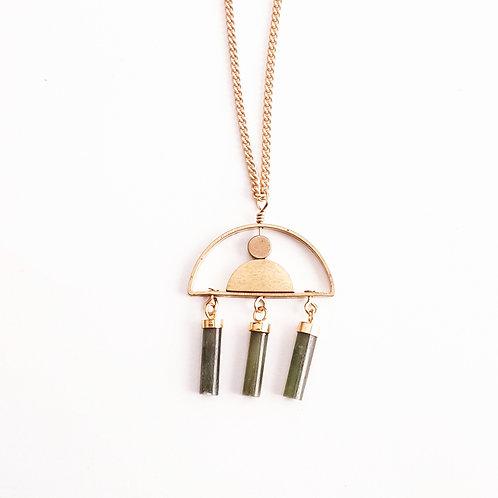 Triple Jade Necklace