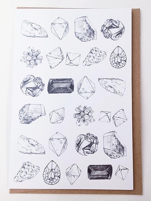 Minerals Card by Stitch Prism