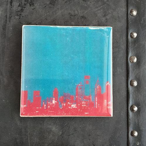 Philly Skyline Tile