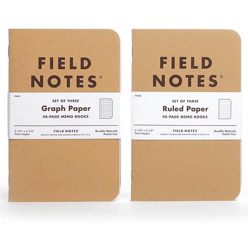 Pocket Notebooks, 3-Pack