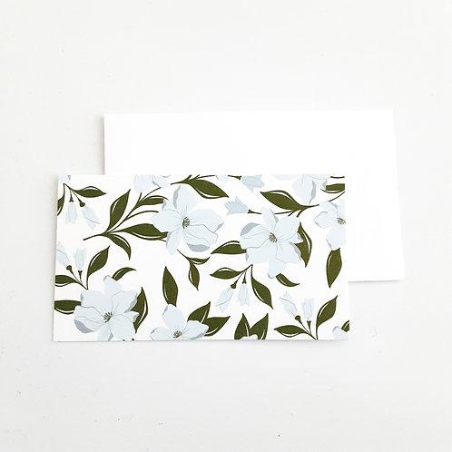 Mini Note Cards, Light Blue Floral
