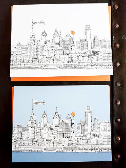 Philadelphia Skyline Notecard