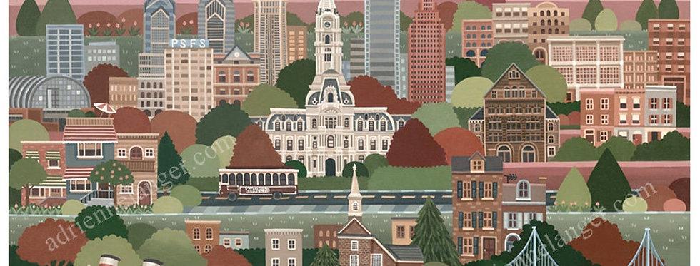 Philadelphia Print by Adrienne Langer