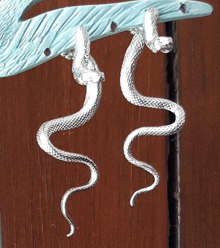 Sterling Snake Earrings