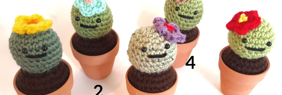 Crocheted Cactus Friends