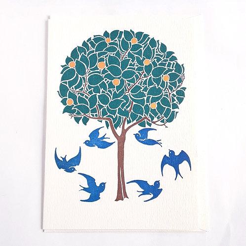 Tree & Swallows
