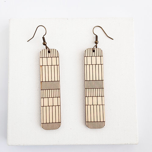 Oblong Grid Earrings