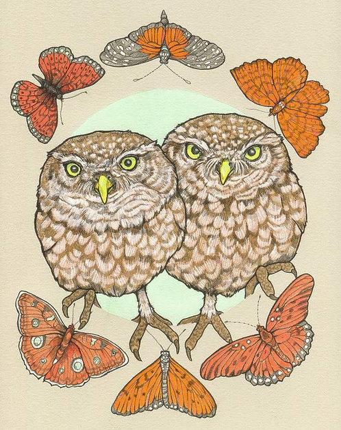 Owls Print by Sarah Ryan
