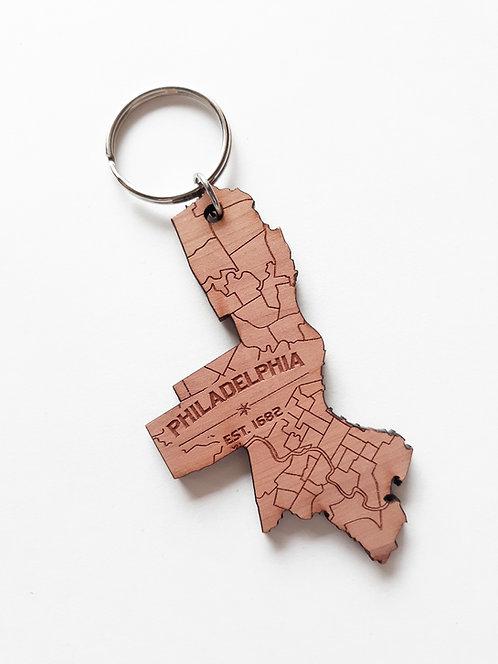 Philadelphia Map Keychain