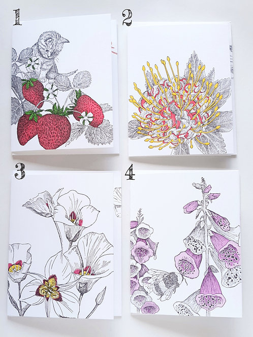 Botanical Cards by Painted Tongue Studio