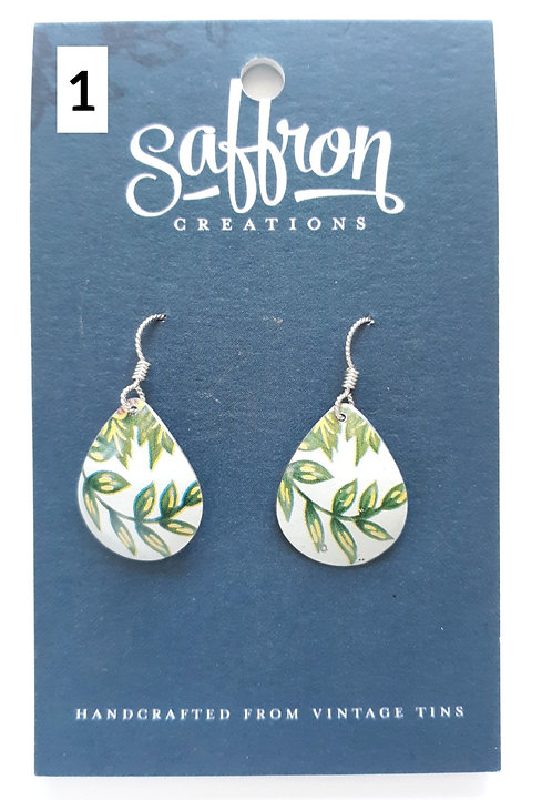 Assorted Teardrop Earrings by Saffron Creations