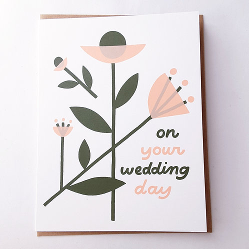 Wedding pink & green floral