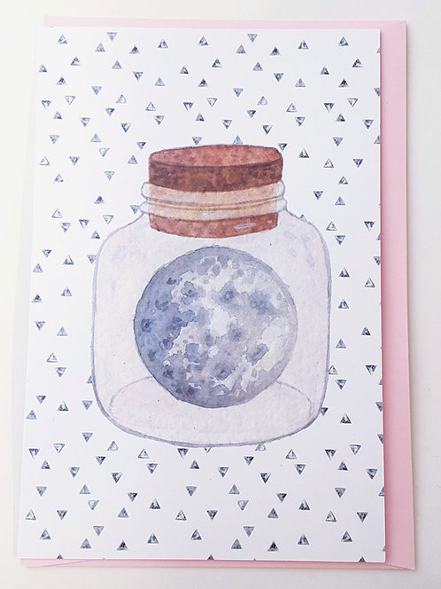 Pink Moon Card by Stitch Prism